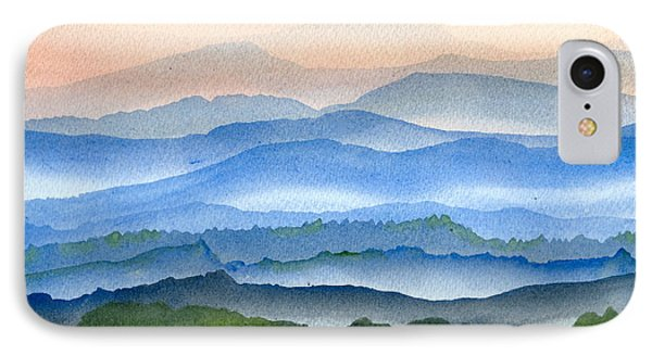 Blue Ridge Mist 1 IPhone Case by Teresa Tilley