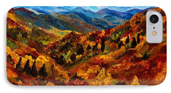 Blue Ridge Mountains In Fall II IPhone Case by Julie Brugh Riffey