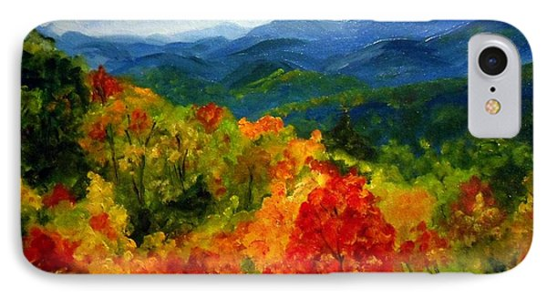 Blue Ridge Mountains In Fall IPhone Case by Julie Brugh Riffey