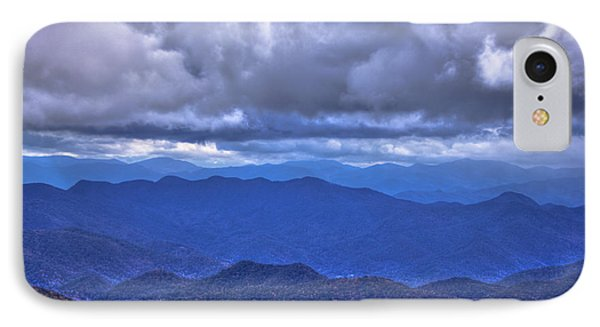 Under The Cloud Cover Blue Ridge Mountains North Carolina IPhone Case by Reid Callaway