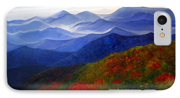 IPhone Case featuring the painting Blue Ridge Mountains Of West Virginia by Katherine Miller