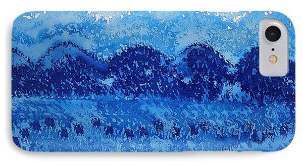 Blue Ridge Original Painting Phone Case by Sol Luckman