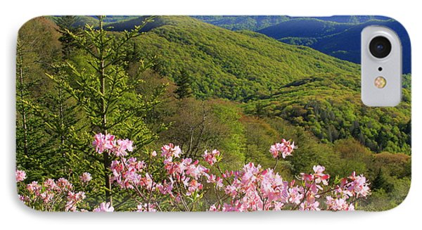 IPhone Case featuring the photograph Blue Ridge Parkway Rhododendron Bloom- North Carolina by Mountains to the Sea Photo