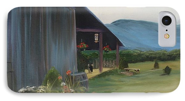 IPhone Case featuring the painting Blue Ridge Vineyard by Donna Tuten
