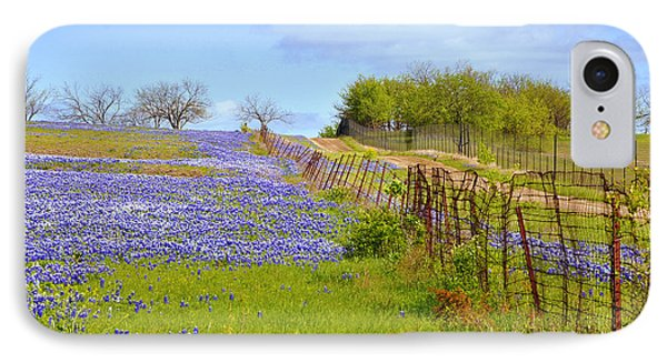 Blue Road Up A Hill IPhone Case by ARTography by Pamela Smale Williams