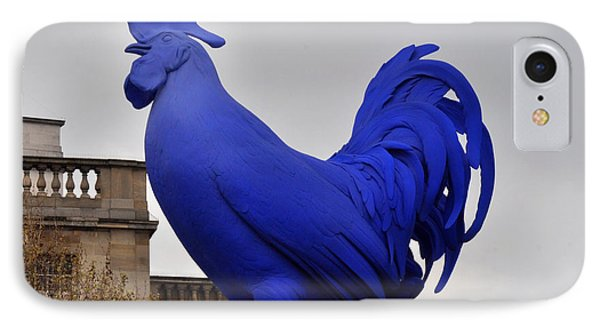 Blue Rooster In Trafalgar Square London IPhone Case by Diane Lent