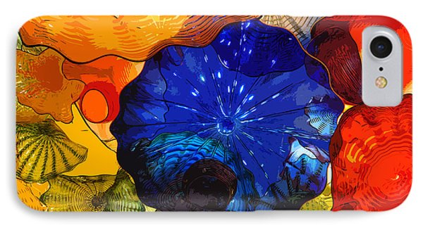 IPhone Case featuring the digital art Blue Rose by Kirt Tisdale