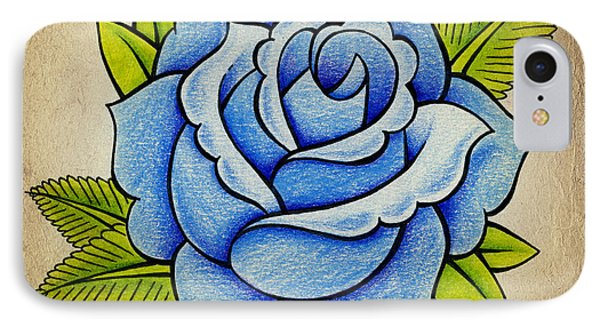 Blue Rose IPhone Case by Samuel Whitton