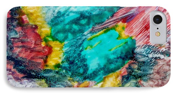 IPhone Case featuring the painting Blue Rush by Joan Reese