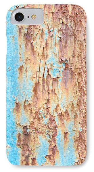 Blue Rusty Metal IPhone Case by Tom Gowanlock