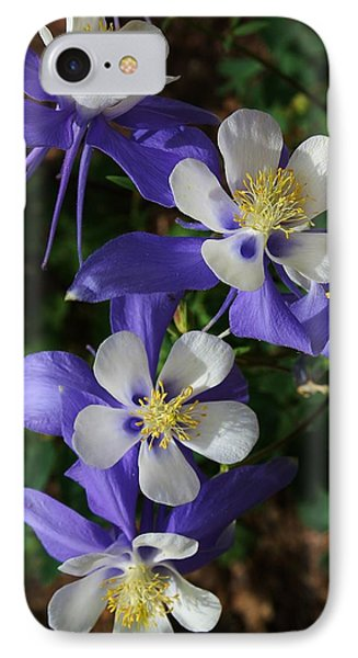Blue Saphire Columbine Phone Case by Bruce Bley