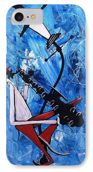 Blue Sax Phone Case by Guilbeaux Gallery