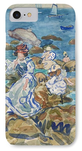 Blue Sea Classic IPhone Case by Maurice Brazil Prendergast
