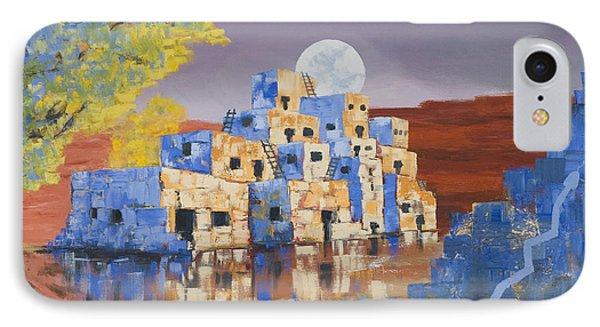 Blue Serpent Pueblo IPhone Case by Jerry McElroy