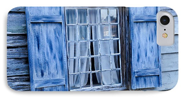 Blue Shutters IPhone Case by Bonnie Fink
