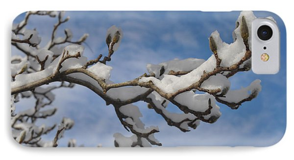 Blue Skies In Winter Phone Case by Bill Cannon