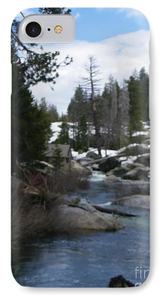 IPhone Case featuring the photograph Blue Skies Of Winter by Bobbee Rickard