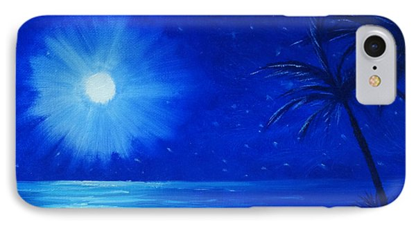 IPhone Case featuring the painting Blue Sky At Night by Arlene Sundby