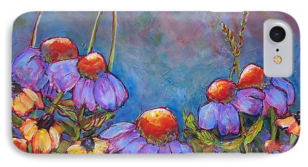 Blue Sky Flowers IPhone Case by Blenda Studio