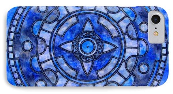Blue Sky Mandala Phone Case by Vlatka Kelc