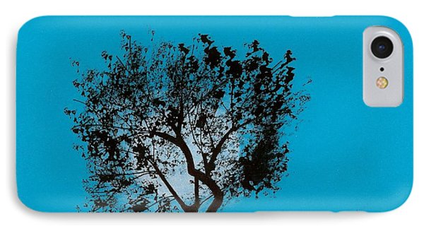 IPhone Case featuring the drawing Blue Sky Moon by D Hackett