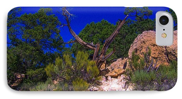 Blue Sky Over The Canyon IPhone Case by Dany Lison