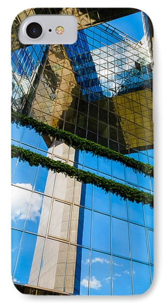 IPhone Case featuring the photograph Blue Sky Reflections On A London Skyscraper by Peta Thames