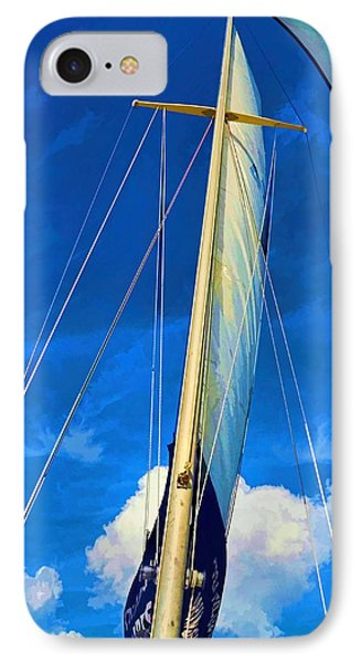 Blue Sky Sailing IPhone Case by Pamela Blizzard