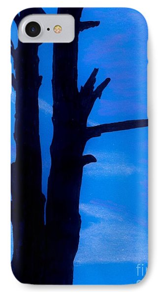 IPhone Case featuring the drawing Blue Sky Tree by D Hackett