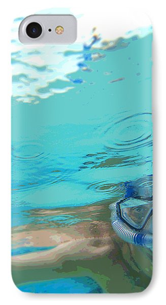 Blue Snorkel IPhone Case