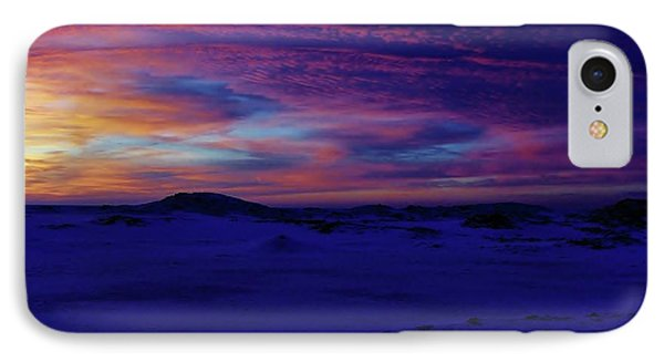 Blue Snow Sunset IPhone Case by Kathi Mirto
