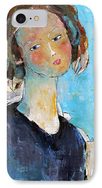 IPhone Case featuring the painting Blue Sonata by Becky Kim
