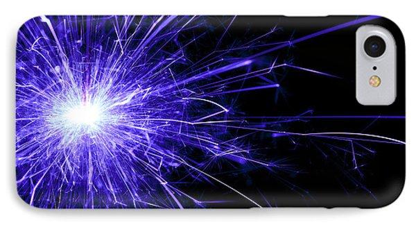 Blue Sparkle IPhone Case by Samuel Whitton