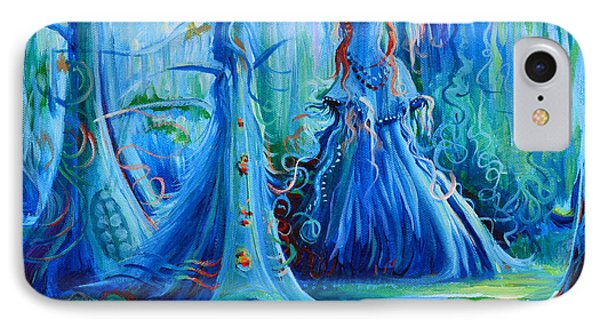 Blue Spirit Trees Phone Case by Janet Oh