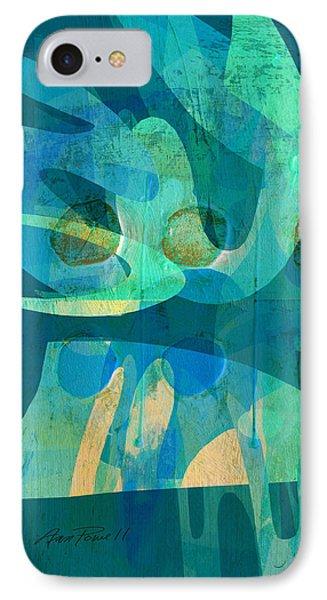Blue Square Retro Phone Case by Ann Powell
