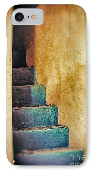 Blue Stairs - Yellow Wall    IPhone Case