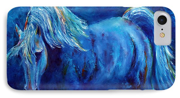 IPhone Case featuring the painting Blue Stallion by Jennifer Godshalk