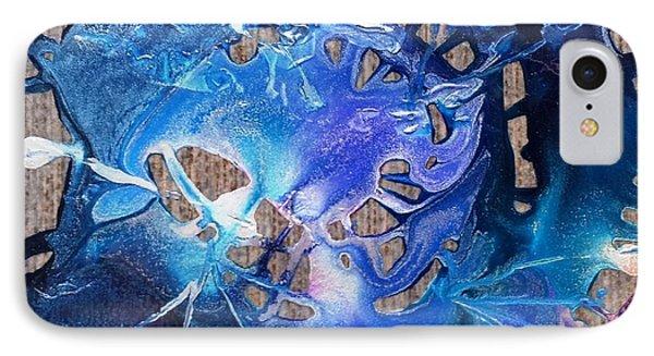 Blue Starburst IPhone Case by Yolanda Koh