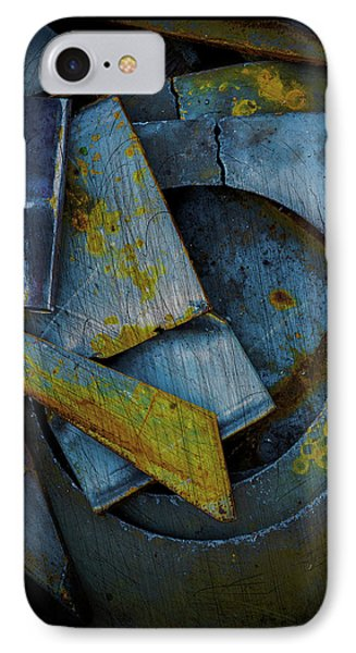 Blue Steel With Scratches IPhone Case by Craig Perry-Ollila
