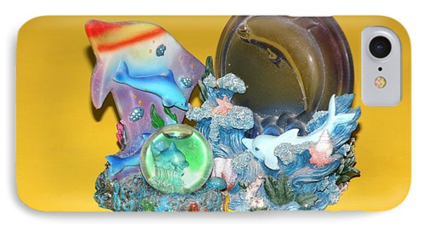 IPhone Case featuring the photograph Blue Still Life On Yellow by Bill Woodstock