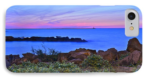 Blue Sunset IPhone Case by Frozen in Time Fine Art Photography