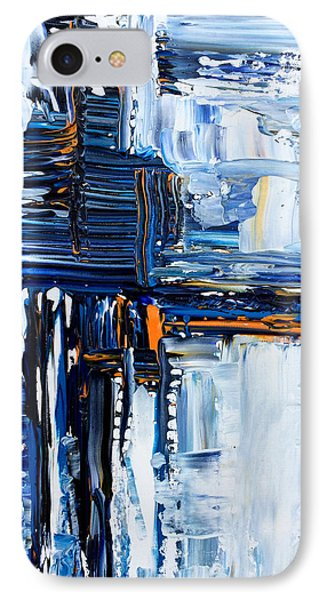 Blue Thunder IPhone Case by Rebecca Davis