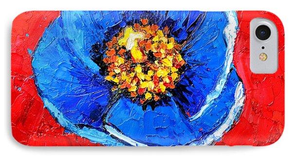 Blue Tibetan Poppy Phone Case by Ana Maria Edulescu