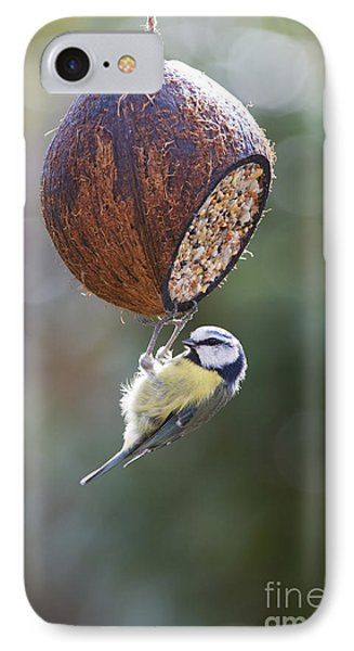 Titmouse iPhone 7 Case - Blue Tit Feeding by Tim Gainey
