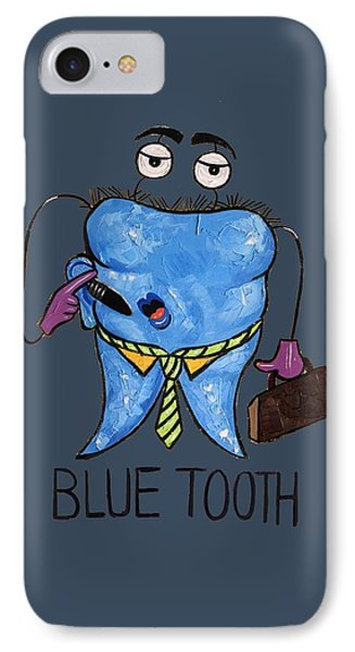 Blue Tooth Dental Art By Anthony Falbo Phone Case by Anthony Falbo