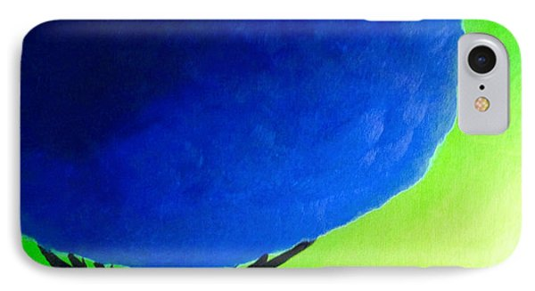 IPhone Case featuring the painting Blue Tree by Anita Lewis