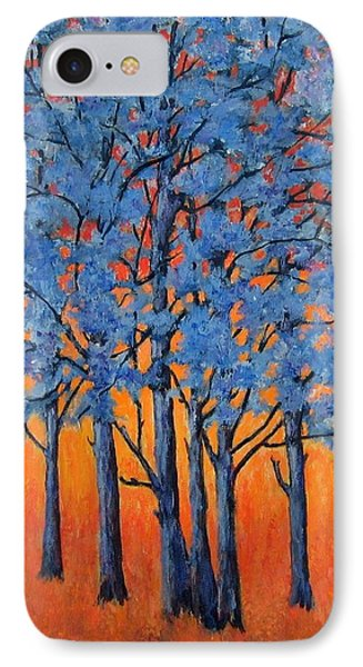 Blue Trees On A Hot Day IPhone Case