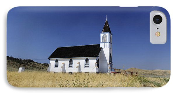 IPhone Case featuring the photograph Blue Trim Church by Fran Riley