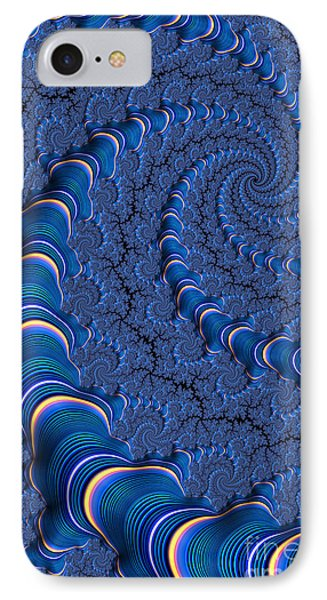 Blue Tubes Phone Case by John Edwards