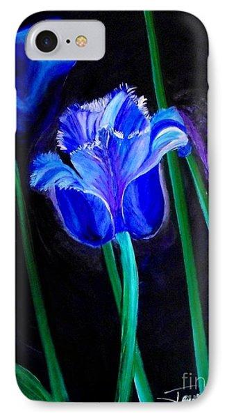 Blue Tulip Variation IPhone Case
